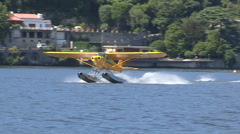 Floatplane landing Stock Footage