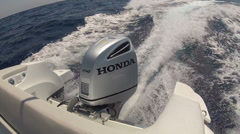 Powerful boat motor Stock Footage