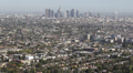 Los Angeles Aerial View Cityscape Office Towers Crowded Metropolitan Area US LA Footage