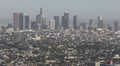 Skyline Aerial View Downtown Los Angeles Modern Landmark Buildings Skyscraper LA Footage