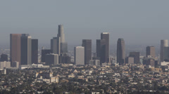 Los Angeles Downtown Skyline California United States Busy City Highrise USA LA - stock footage