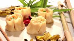 Chinese food, dumplings Stock Footage