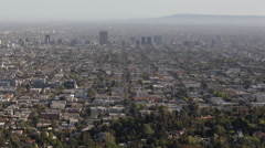 Koreatown Aerial View Los Angeles Commuting US Route 101 Hollywood Freeway LA US Stock Footage