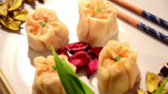 Chinese restaurant, dumplings Stock Footage