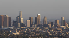 Aerial View Los Angeles Downtown Cityscape Sightseeing Aerials Panoramic View LA Stock Footage