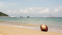 Tropical beach at Tioman Island, Malaysia Stock Footage