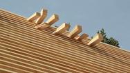 520 wood cedar wooden shingles roof roofing roofworking carpenty Stock Footage