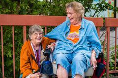 Elderly women Stock Photos