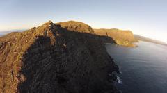 Makapuu cliffs Stock Footage
