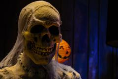 Skull of halloween Stock Photos