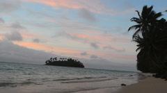 Muri Lagoon in Rarotonga Cook Islands Stock Footage