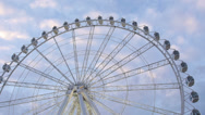 Stock Video Footage of Ferris Wheel in the evening