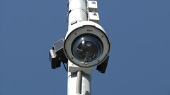 CCTV Street DOME camera Stock Footage