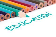 Stock Illustration of text of education