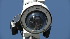 CCTV Dome Camera Stock Footage