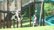 Stock Video Footage of Children at playground at park