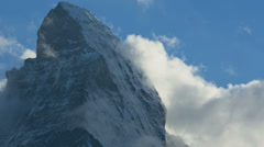 Matterhorn Peak close up time lapse image, Zermatt Stock Footage
