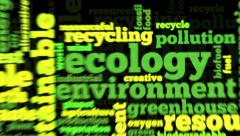 Animation of word cloud related to ecology and environment Stock Footage