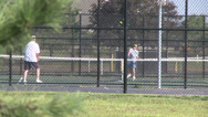 Stock Video Footage of Older couple playing tennis