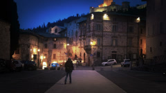 Main square of European city Stock Footage