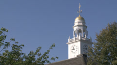 Cupola on Stratford Town Hall building Stock Footage