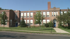 Brick school in Stratford - stock footage