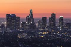 Los angeles before dawn Stock Photos