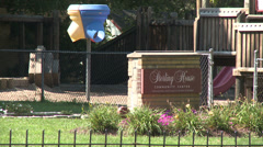 Sterling House Community Center sign Stock Footage