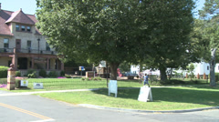 Sterling House Community Center building Stock Footage