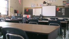 Empty classroom Stock Footage
