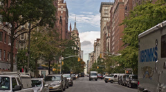Empire State Building from Lower 5th Ave Stock Footage