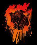 Grunge splash badge vector art Stock Illustration