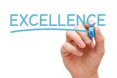Excellence blue marker Stock Illustration