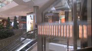 Stock Video Footage of View from within elevator as it ascends in mall (2 of 2)