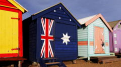 brighton bathing huts melbourne - stock footage