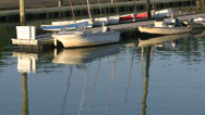 Stock Video Footage of Small boats docked