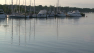 Stock Video Footage of Boats moored at early morning (2 of 2)