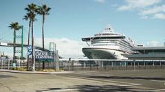 Cruise Ship Golden Princess Stock Footage