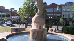 Fountain in Columbus Park (1 of 4) Stock Footage