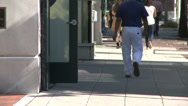 Stock Video Footage of Pedestrians walking in Downtown Stamford (2 of 4)