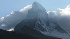 Time lapse of air vortices North face Matterhorn, Zermatt Stock Footage