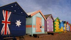 Brighton beach pan Stock Footage