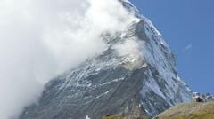 Time lapse view banner cloud Matterhorn Peak, Zermatt Stock Footage