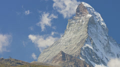 Time lapse air vortices East and North face Matterhorn, Zermatt Stock Footage