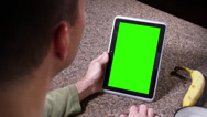 Stock Video Footage of 4K Green Screen Tablet PC 3757