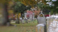 Civil War Cemetery Stock Footage