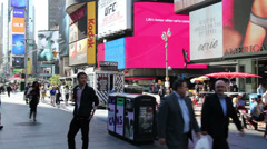 Times Square Street Scene Stock Footage