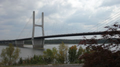 Mississippi River Bridge Stock Footage
