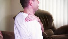 4K Shoulder Pain 3760 Stock Footage