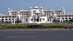 Wide Shot of The President House in Islamabad, Pakistan Stock Footage